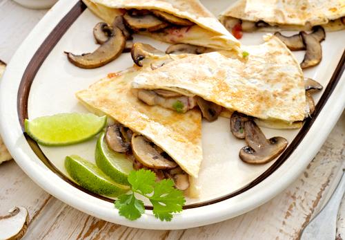 Garlic-Mushroom- Quesadillas