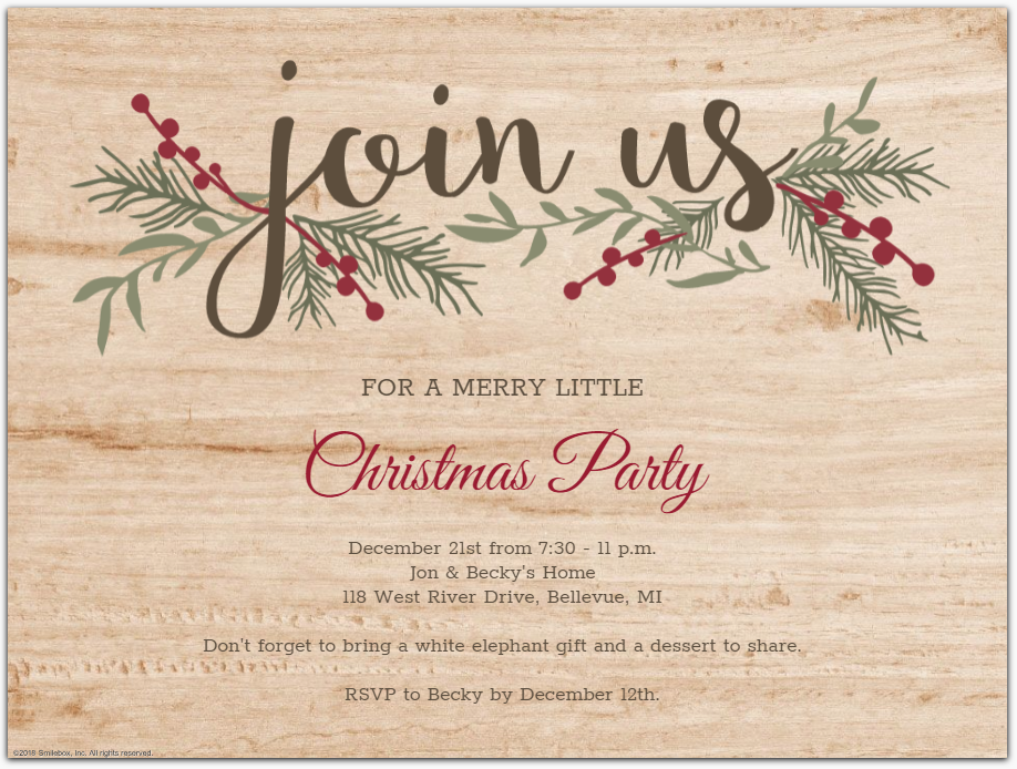 6 Christmas Party Invitations Do S And Don Ts Smilebox