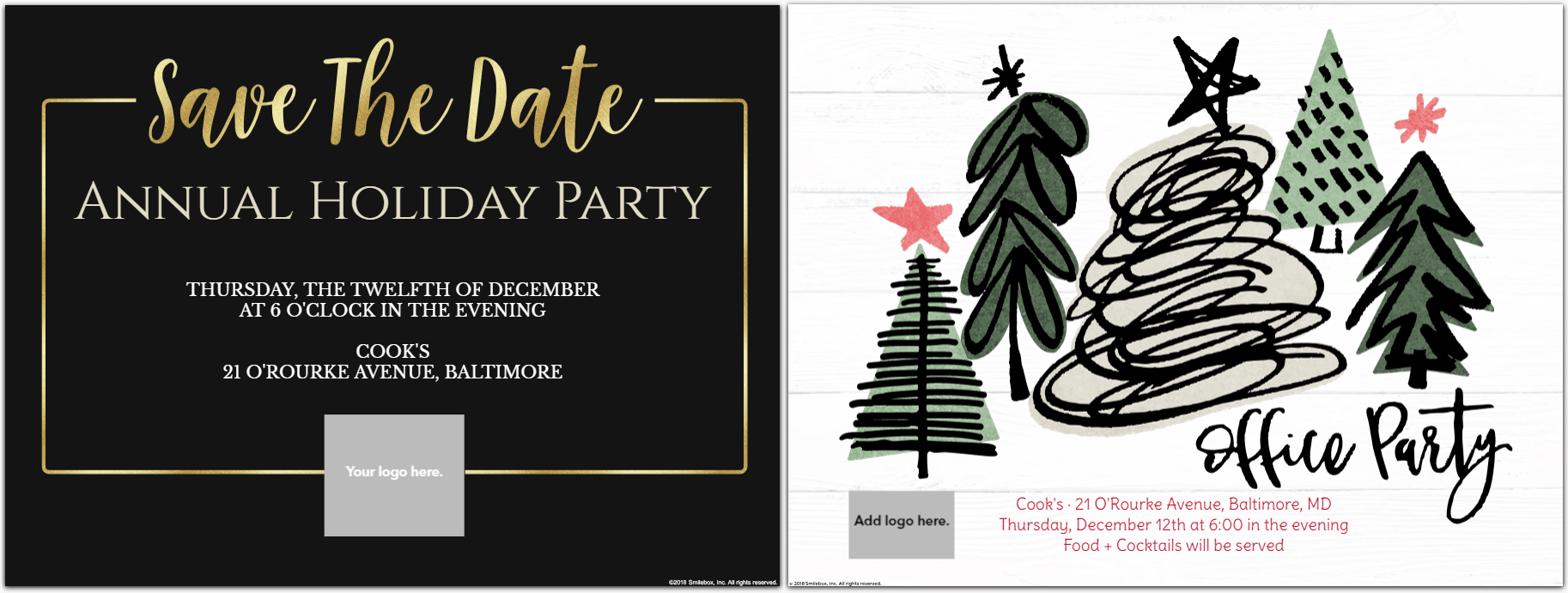 Company Holiday Party Templates