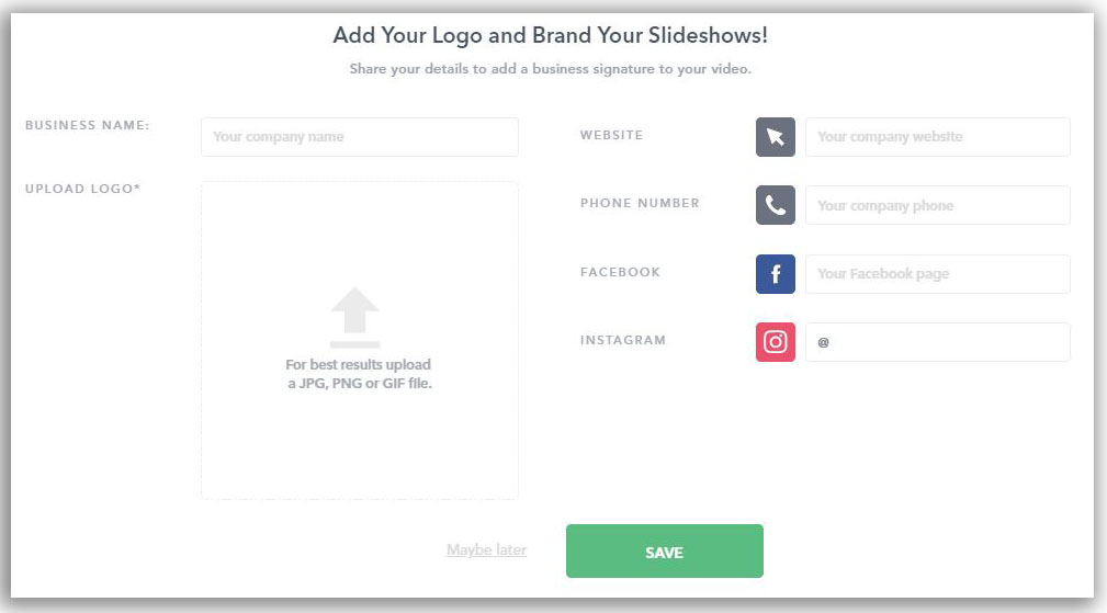 Add Brand Details (For Business Users!)