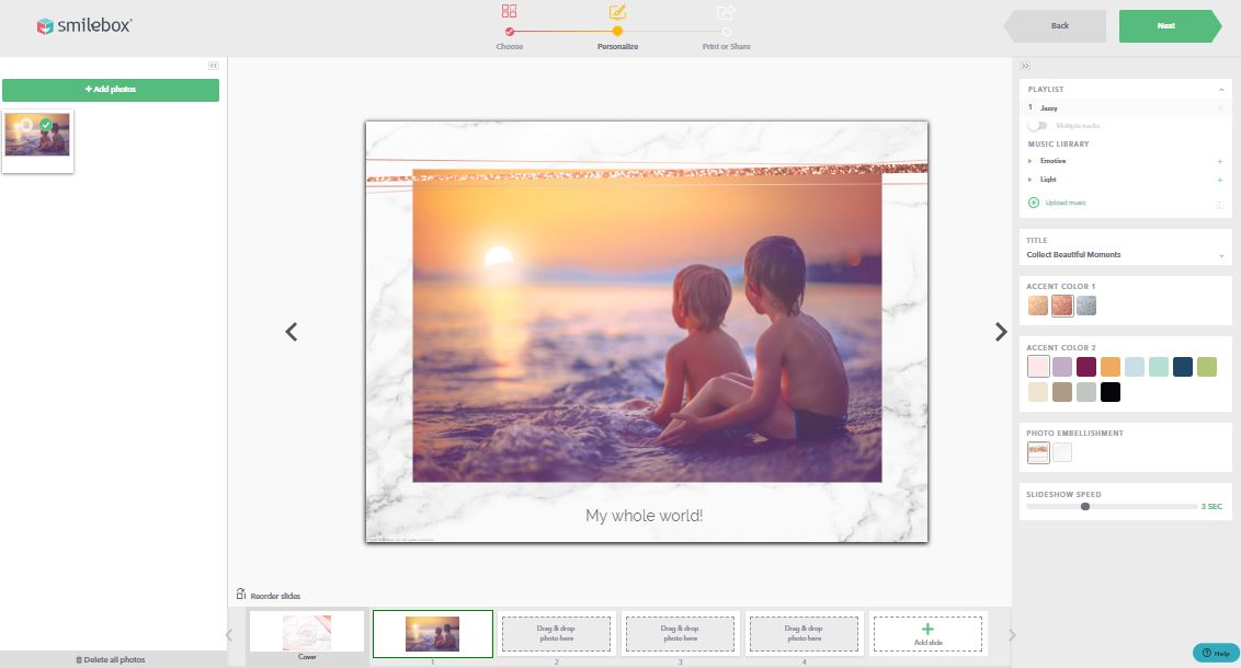 Customize any template to create the perfect slideshow