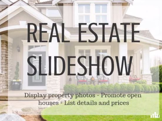 Real estate and business slideshows are super easy to make