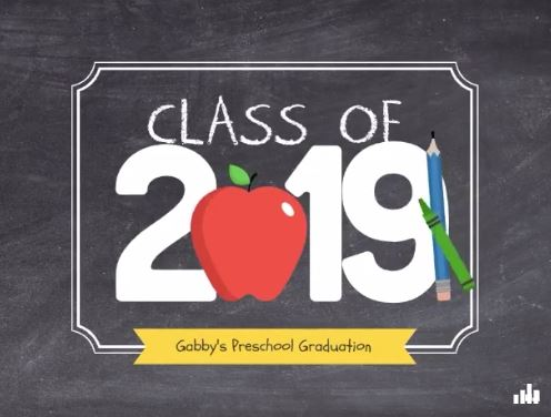 Class of 2019 templates for children graduates on Smilebox