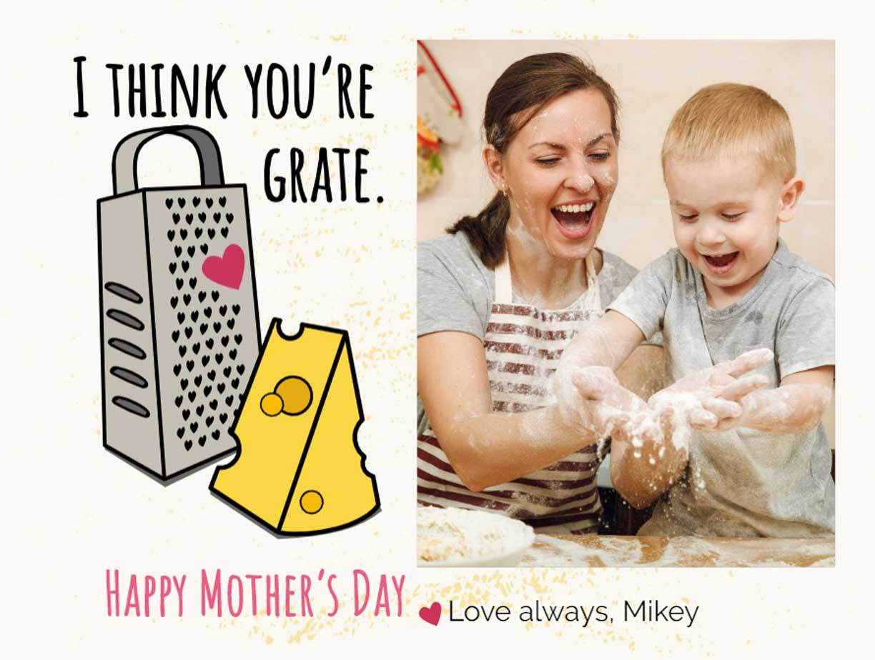 Customizable Mother's Day card