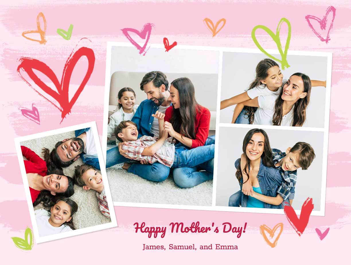 Customizable Mother's Day collage from Smilebox
