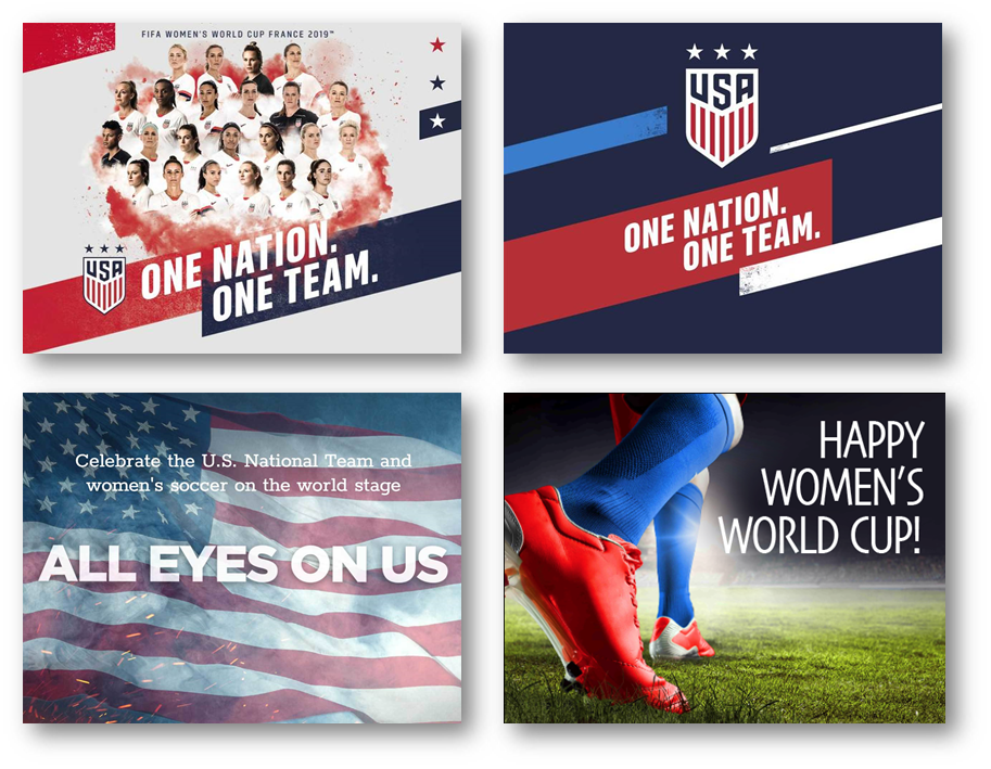 Choose from our free Women's World Cup eCard templates to share with the soccer fan in your life!
