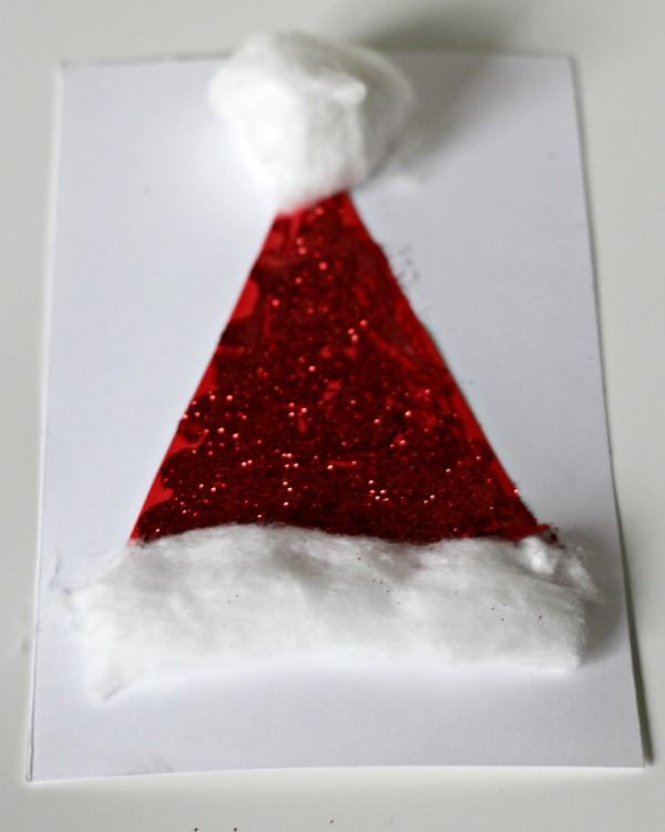 Sparkly Hat Christmas Card Idea