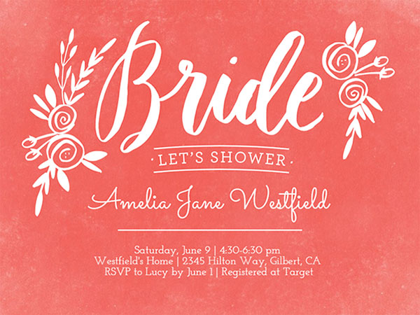 When to Send out Bridal Shower Invites