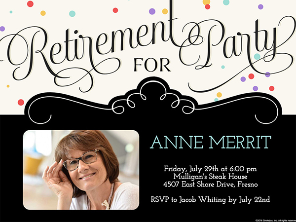 Ideas for Retirement Party