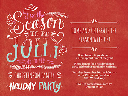 What to Write on Your Christmas Party Invitation | Smilebox