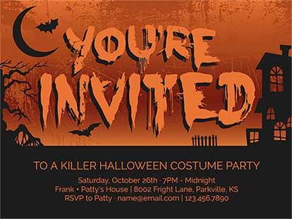 Ideas for Creepy Halloween Invitation