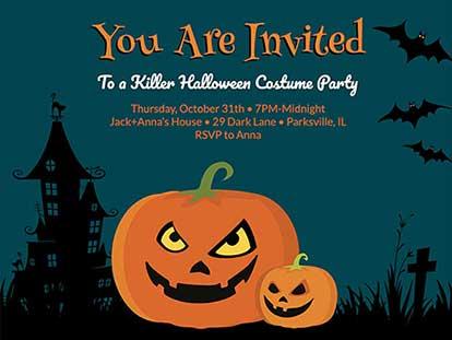 Creepy Halloween Invitation Ideas