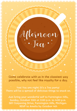 Ideas & Wording for The Perfect Tea Party Invitations