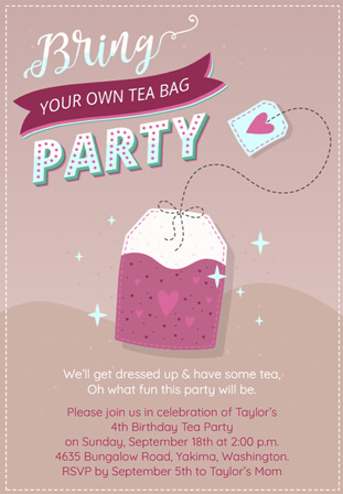 Ideas & Wording for Tea Party Invitations