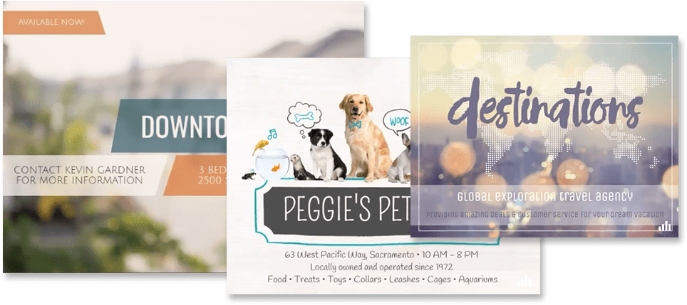 Slideshows, Invitations, Collages, Greeting Cards and Flyers