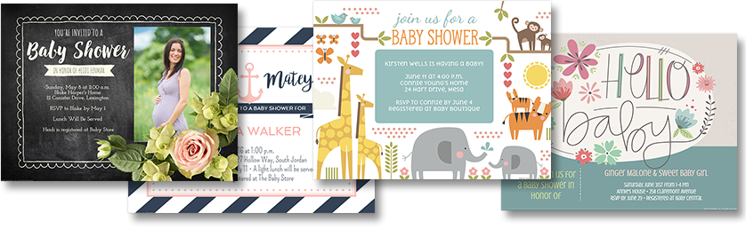 Online Baby Shower Invitation Maker For A Childs First Gift Smilebox